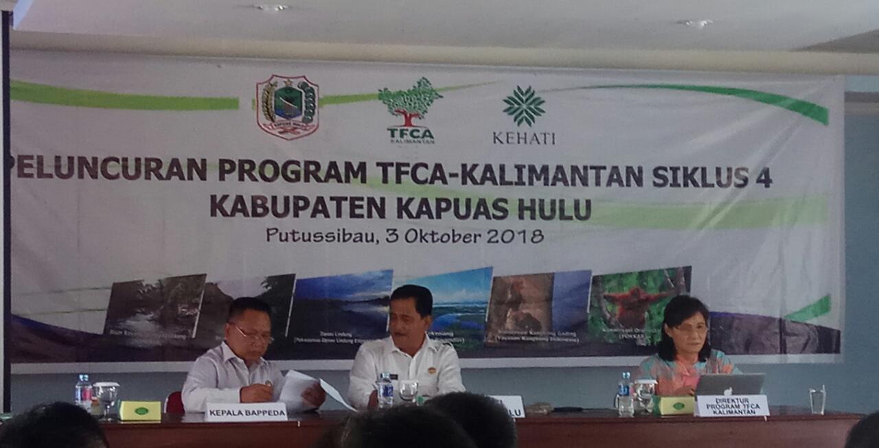 Peluncuran TFCA Kalimantan Siklus 4 Bersama Bupati Kapuas Hulu