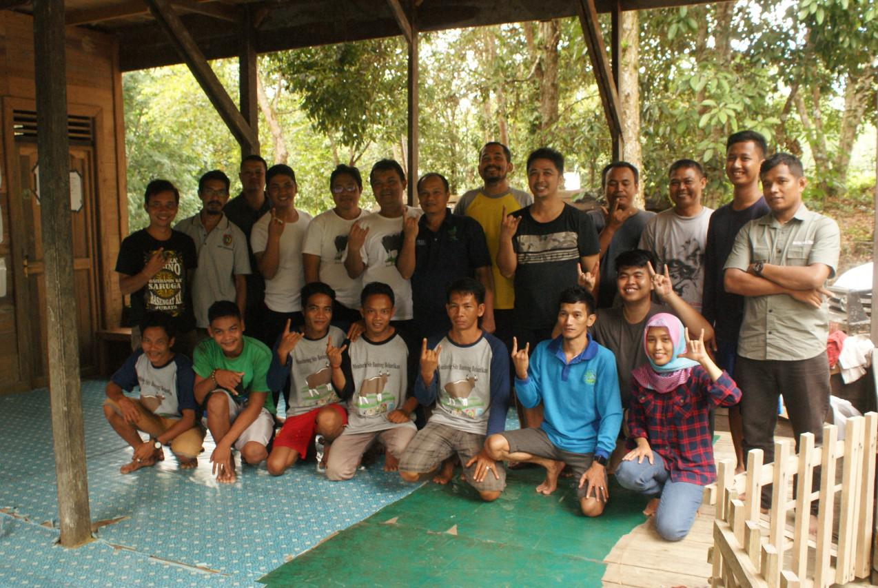 Kunjungan Monitoring ke site Banteng Belantikan, Desa Nanga Matu, Kalteng