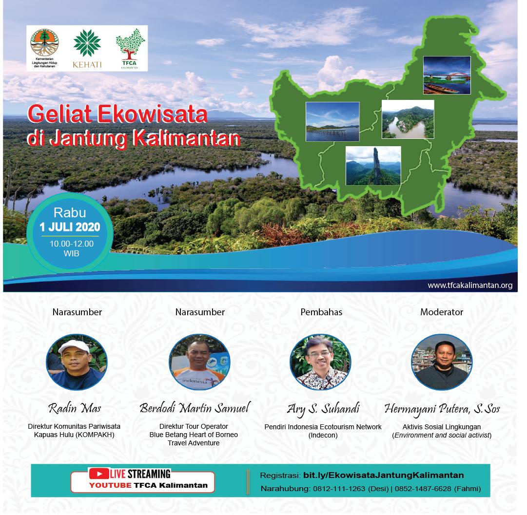 Duskusi Daring: Geliat Ekowisata di Jantung Kalimantan