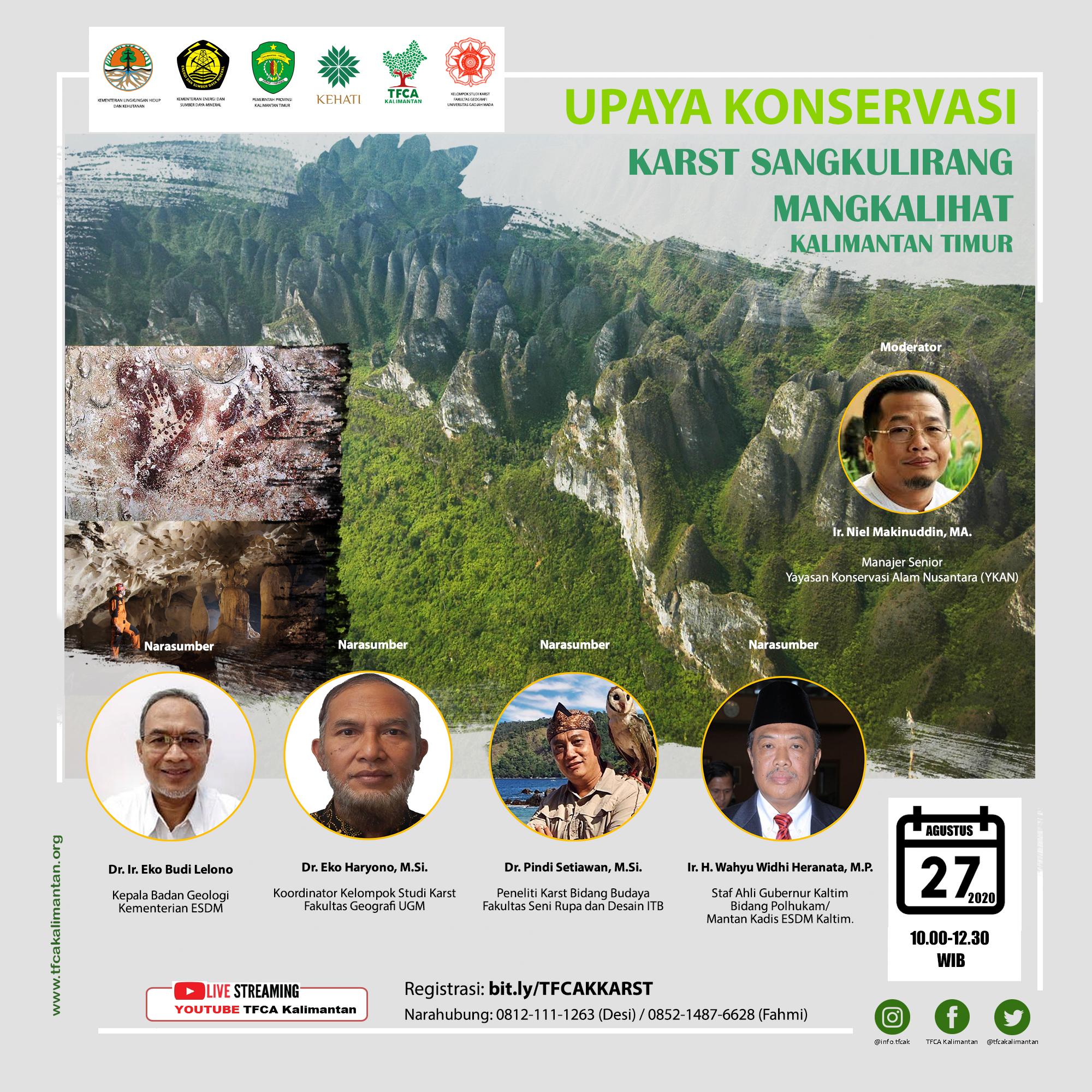 Diskusi Daring Upaya Konservasi Karst Sangkulirang Mangkalihat di Kalimantan Timur