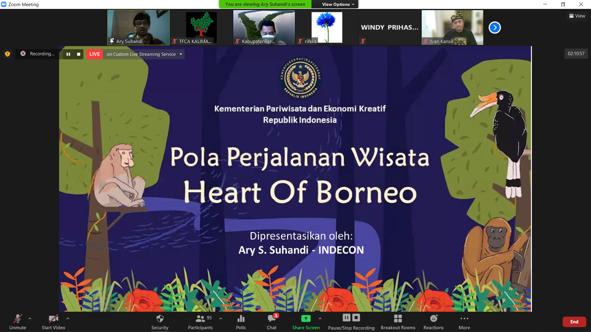 """Mempersiapkan Pola Perjalanan dan produk wisata """"Heart of Borneo"""""""